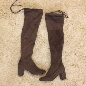 Steve Madden Over the Knee Boots Brown
